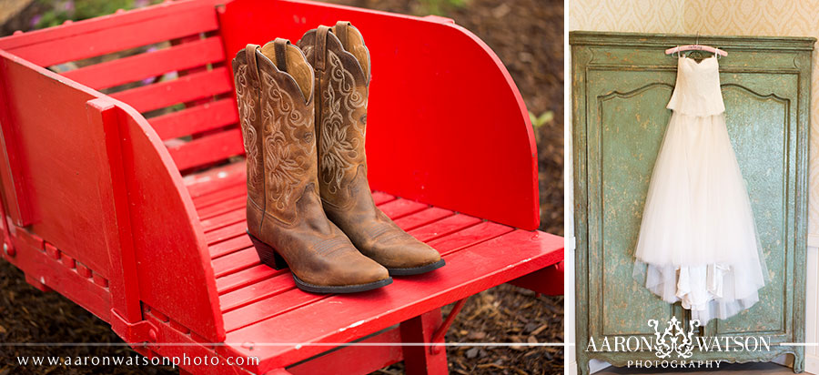 cowboy boots and wedding dress