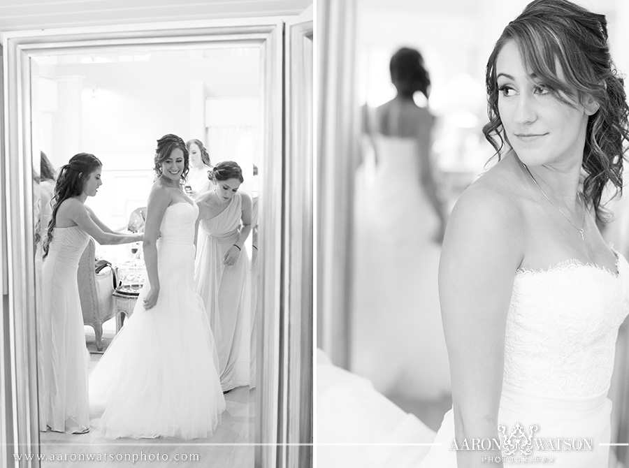Bride in Bridal Suite at Pippin Hill