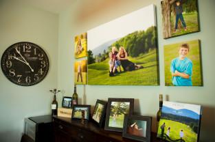 canvas gallery wrap display