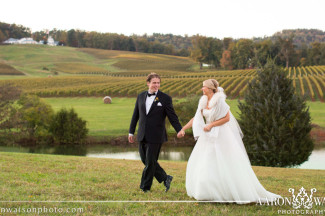 trump winery bride and groom