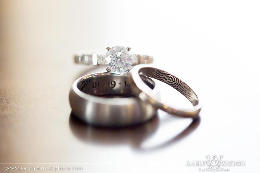 Catholic Wedding Rings 29 Elegant finger print wedding rings
