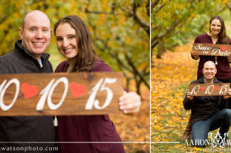 using signage for save the date