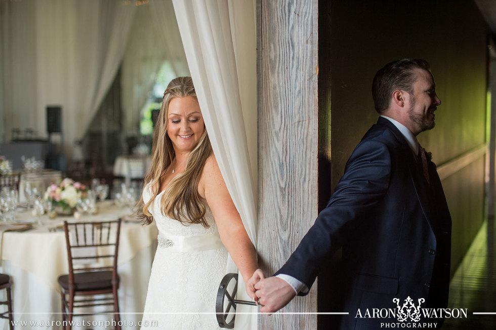 First Look Veritas Vineyard and Winery Wedding